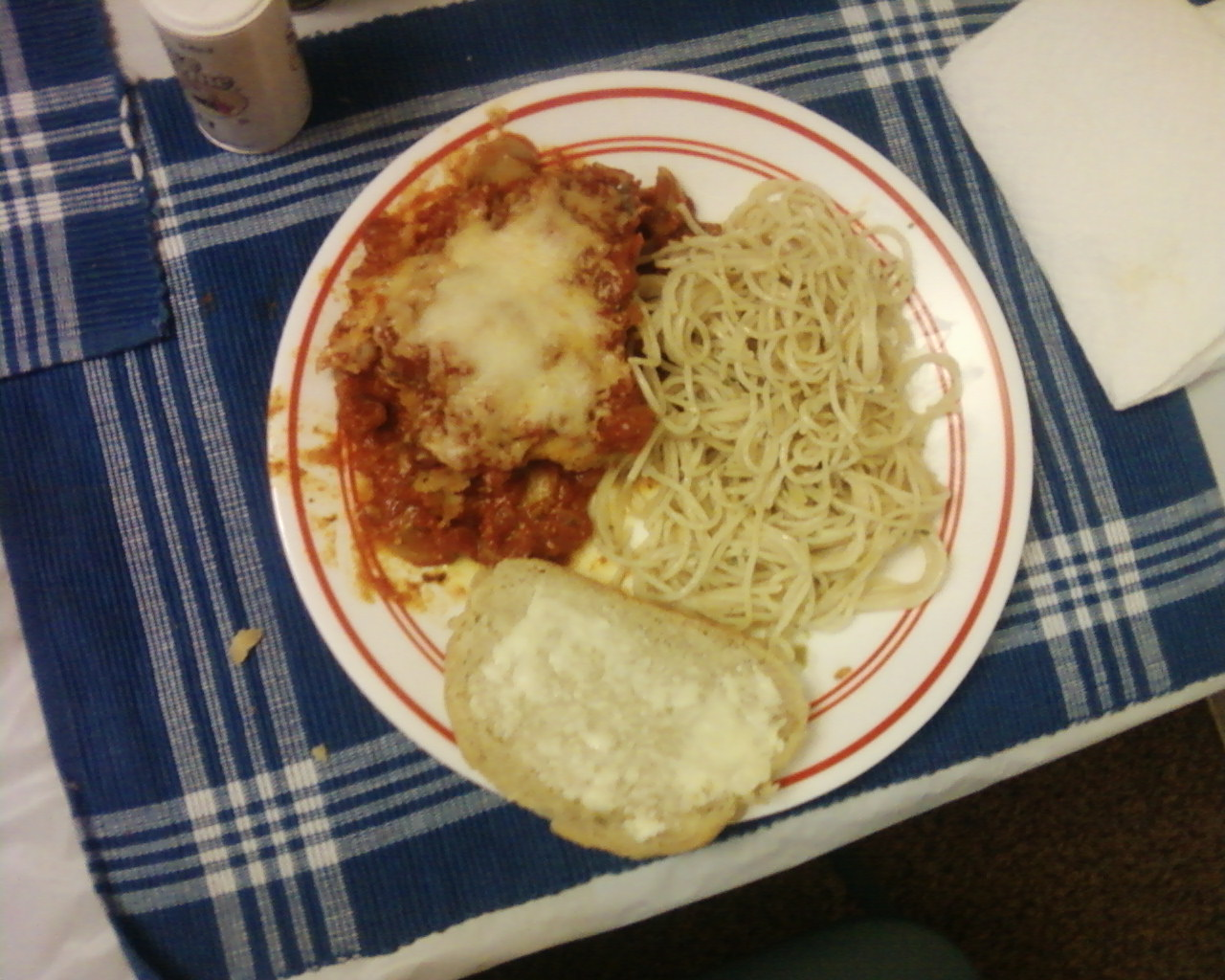 Traffic of my Mind: Semi Home made Chicken Parmesan