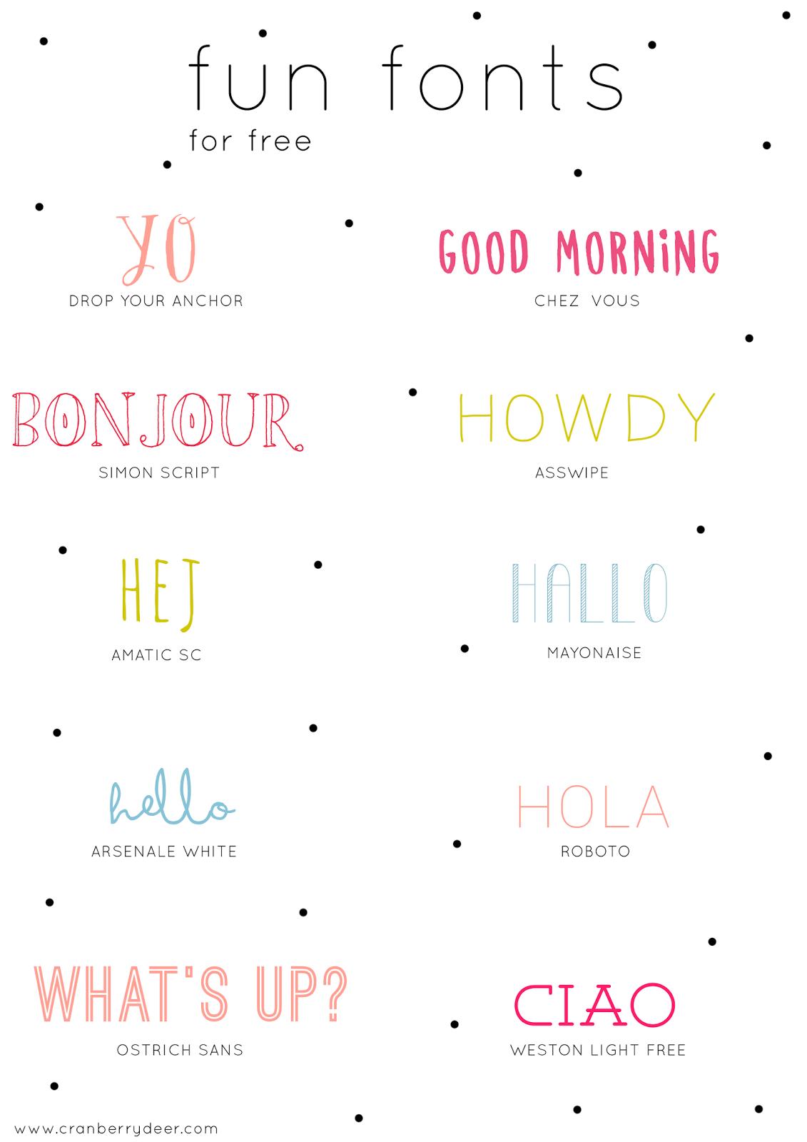 Cranberry Deer Fun Fonts