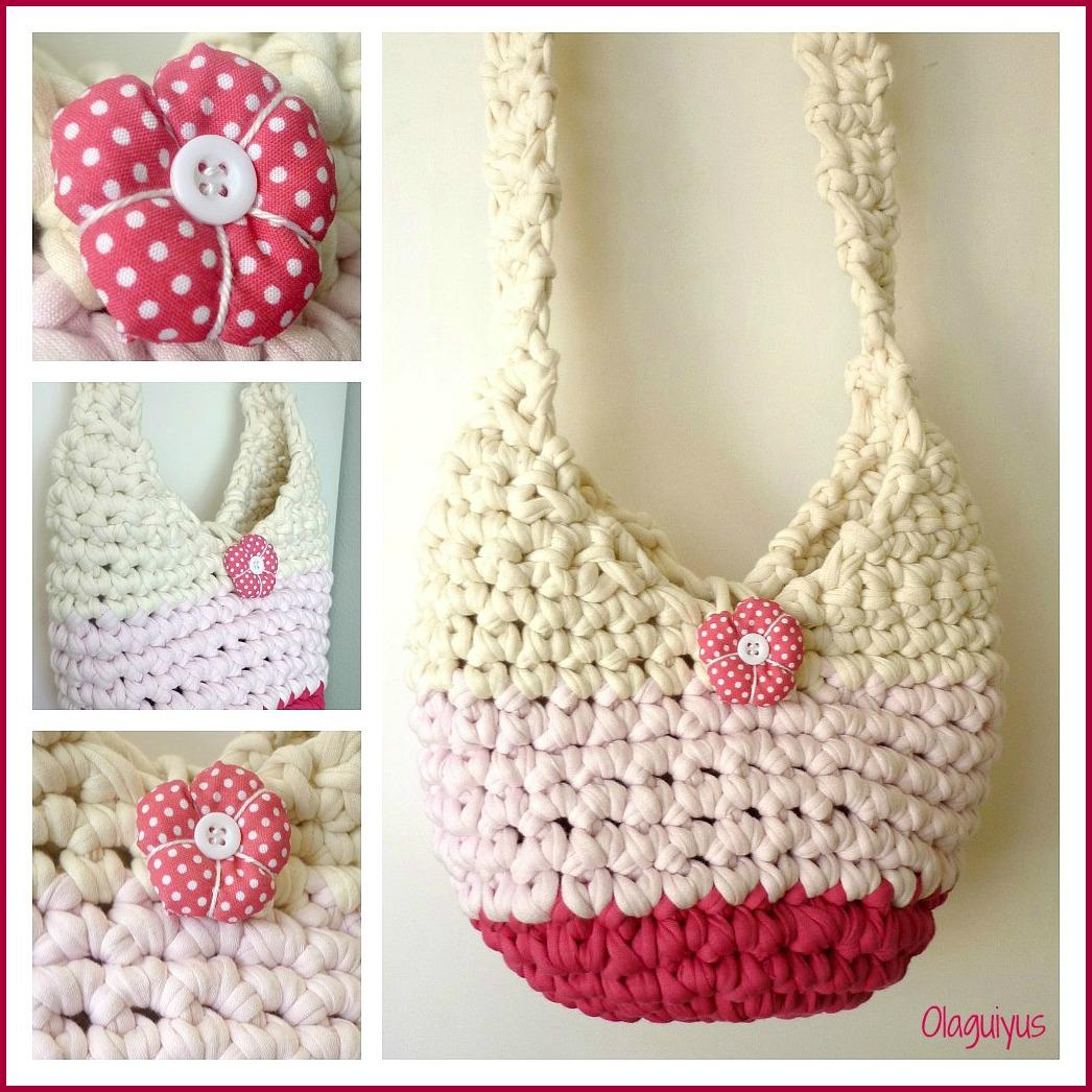 Patrones con trapillo 3 bolso saco dulcesamigus for Bolso crochet trapillo