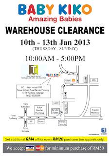 Baby Kiko Warehouse Clearance Sale 2013
