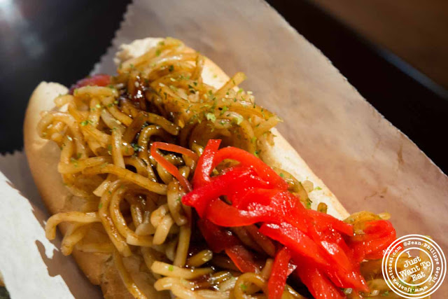 Image of Yakisoba hot dog at Japadog in NYC, New York