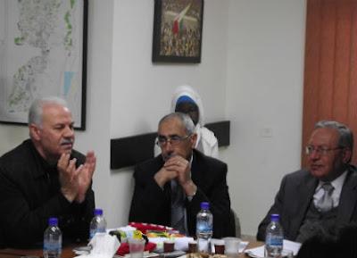 Partidos políticos da OLP - Delegação brasileira - sede da Al Fatah