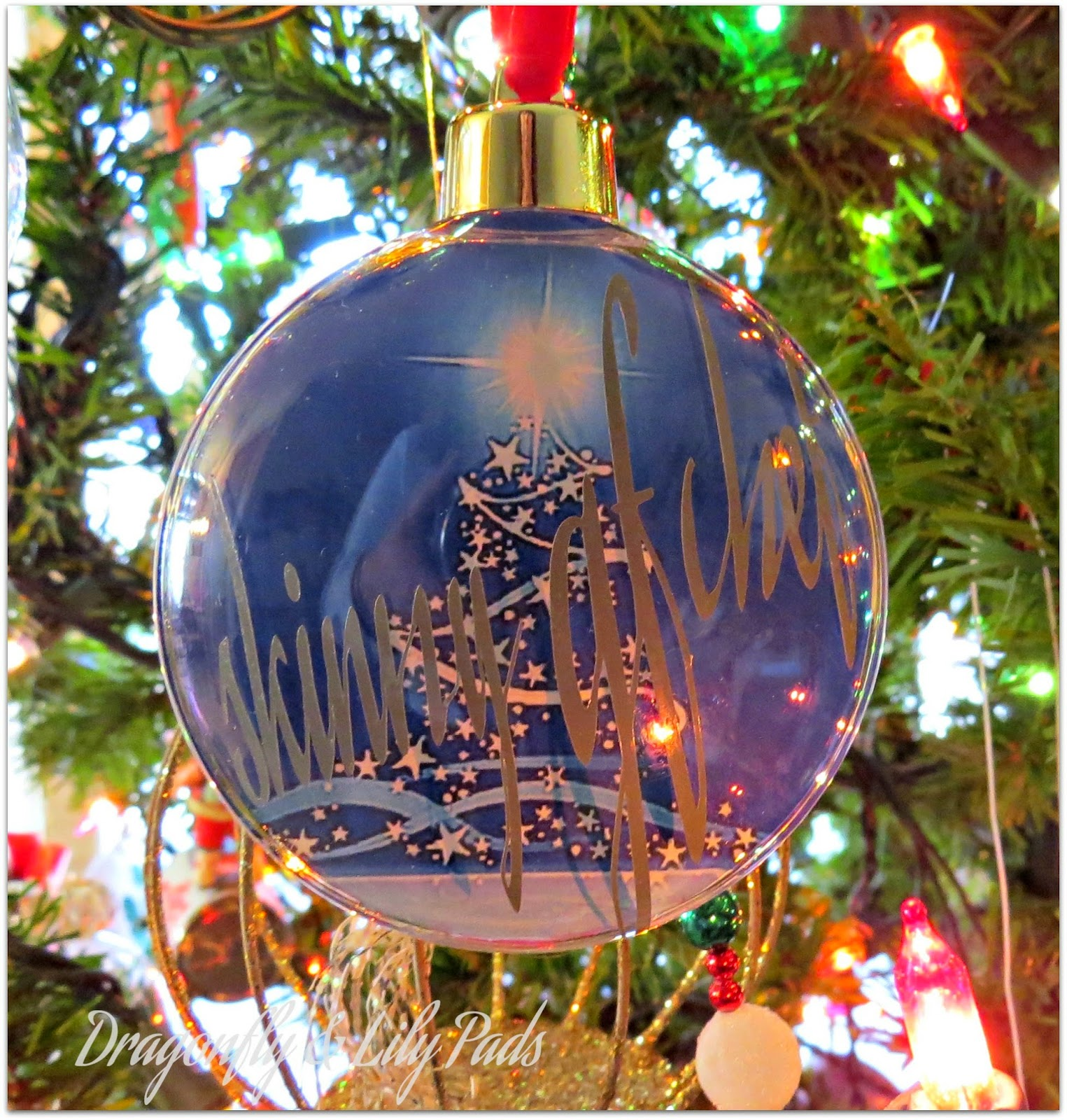 Personalized Christmas Ornament using pictures and Silhouette Cameo