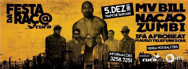 Mv Bill e Nação Zumbi, dia 05 de dezembro em Salvador