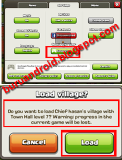 setting coc transfer akun