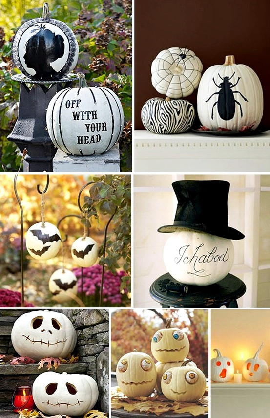 easy pumpkin carvings fairytale mansion and mouse motel just look at the photos and copy the carving templates use plastic mice to fill the motel - How To Decorate A Pumpkin For Halloween