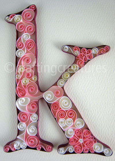 Paper quilling alphabets - Search Yours