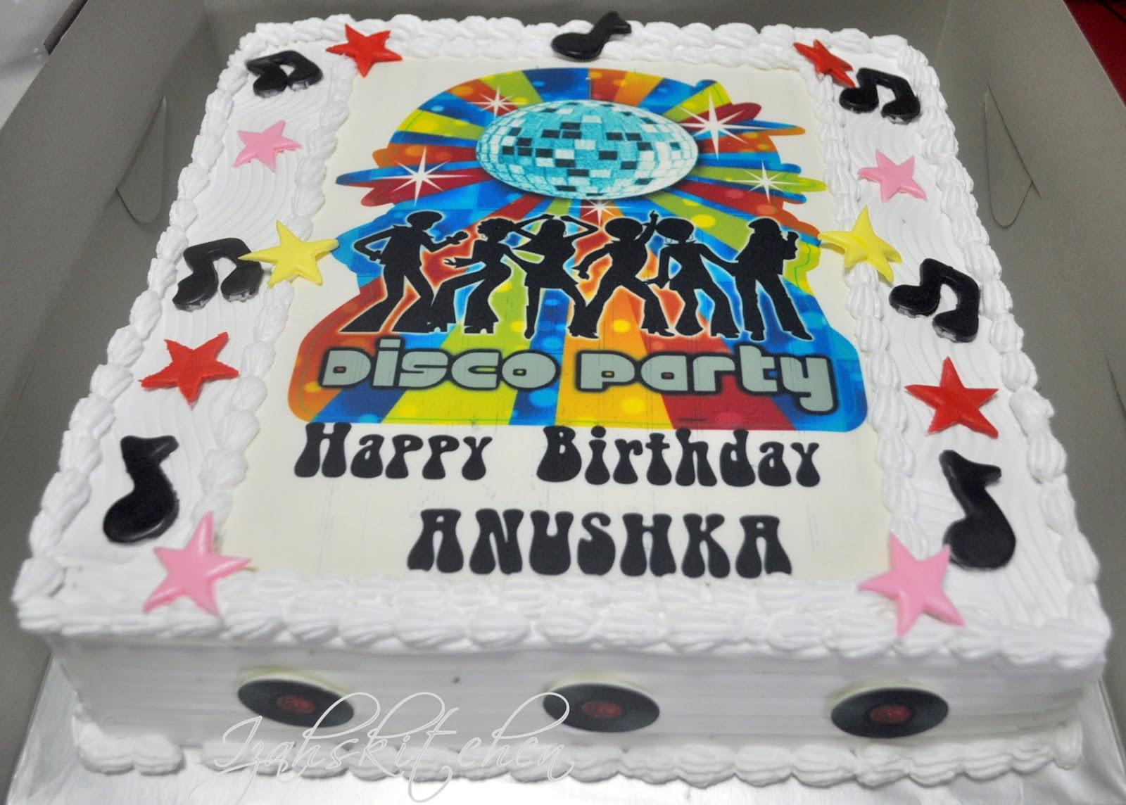 Izahs Kitchen Disco Theme Cake