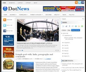 DotNews Blogger Template