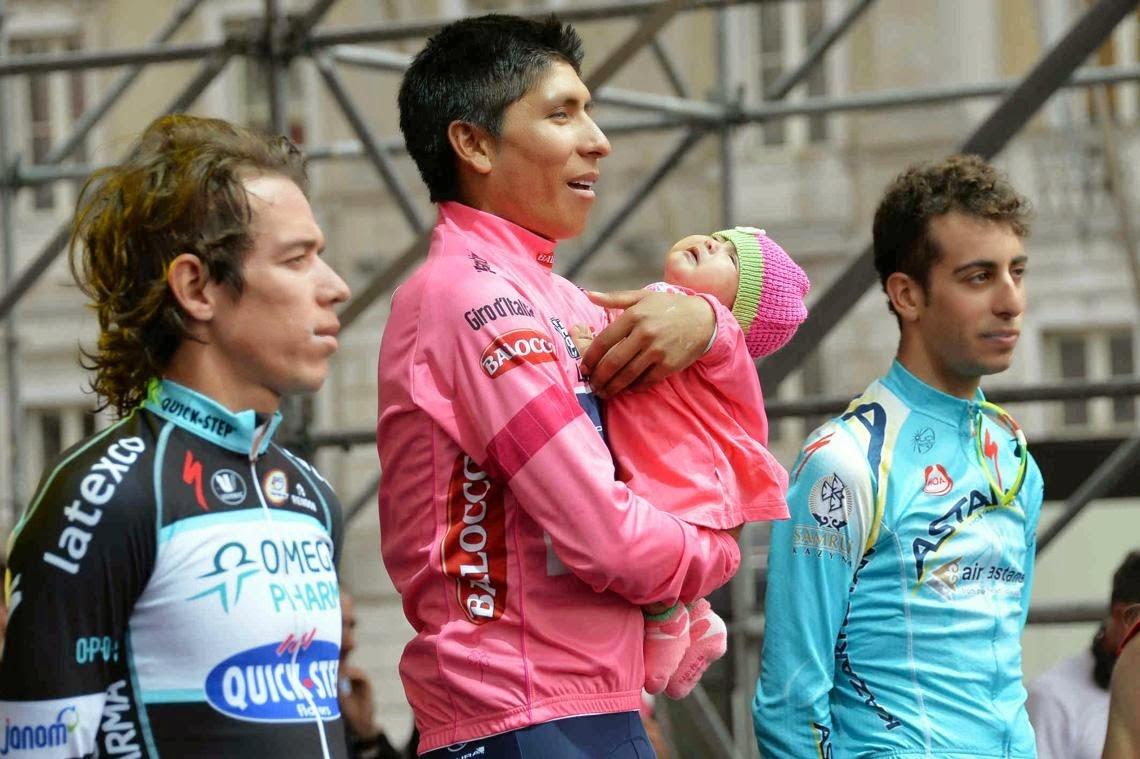 Podium Giro de Italia 2014