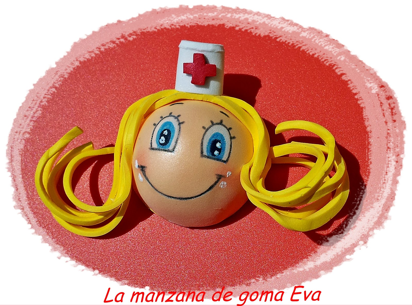 Manzana Goma Eva Broches Enfermeras