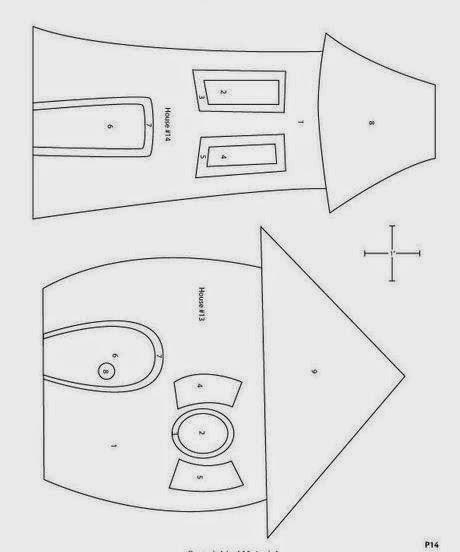 Домик для куклы из фетра своими руками выкройки 67