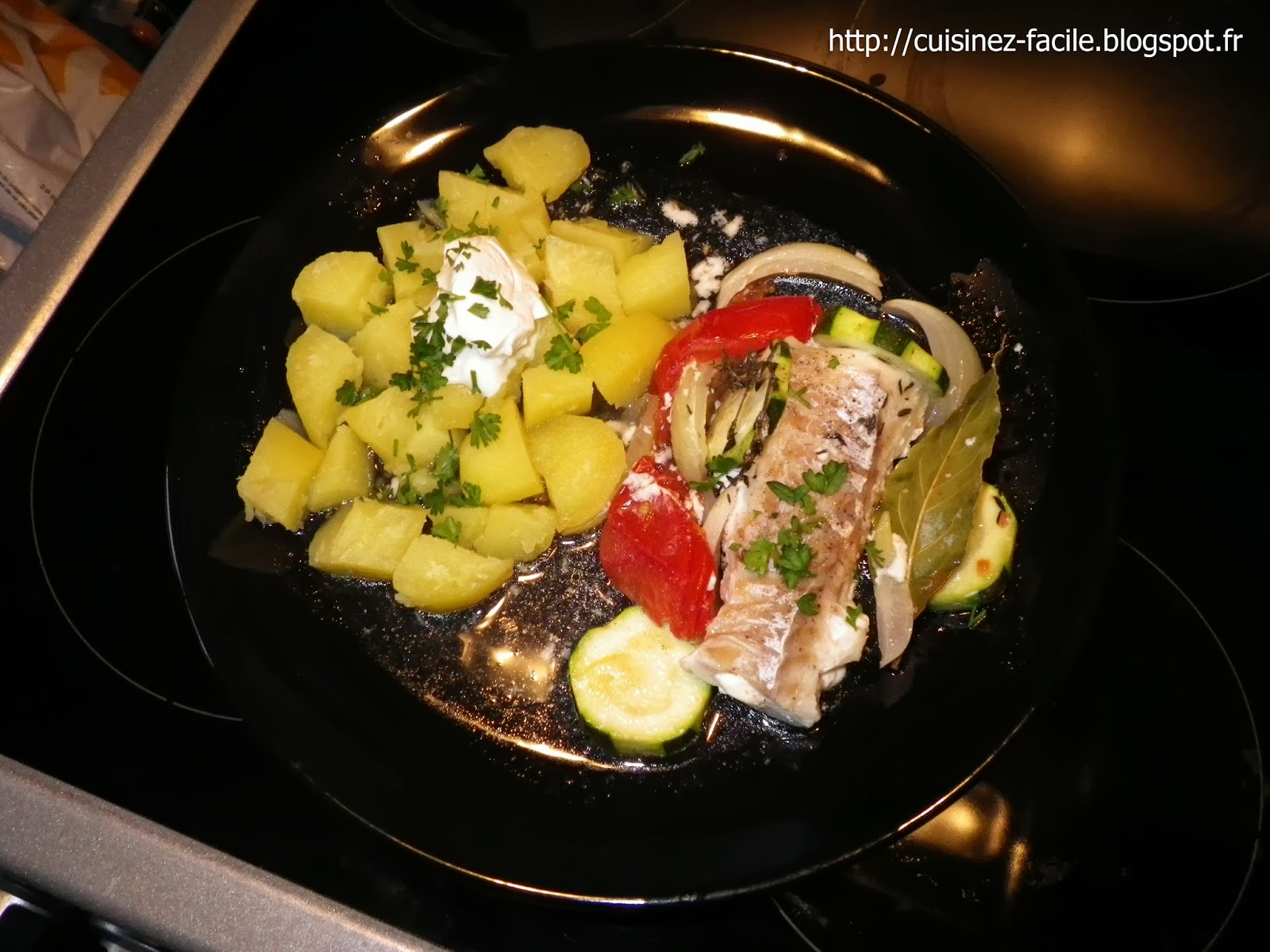 Cuisinez facile easy cooking dos de cabillaud en papillote - Cuisiner dos cabillaud ...