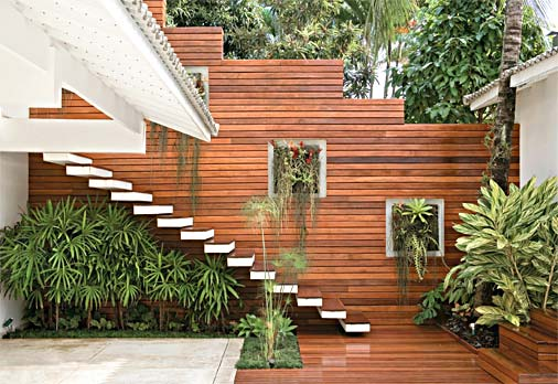 escada jardim embaixo:Decoracao De Madeira