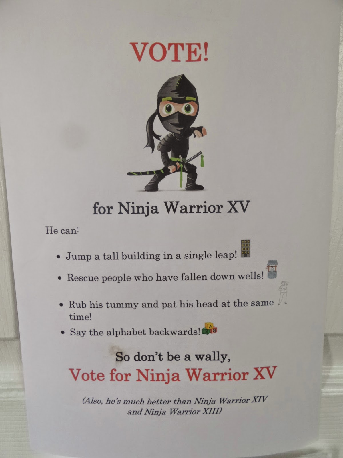Vote for Ninja Warrior XV