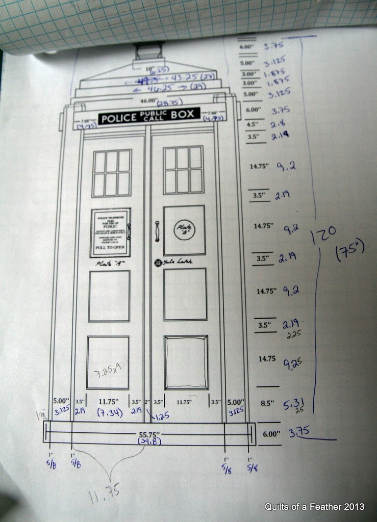 Quilts Of A Feather Designing A New Tardis Quilt
