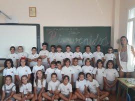 Los alumnos de la clase de 4º B