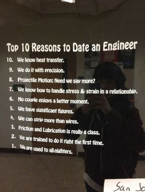 Two engineers dating