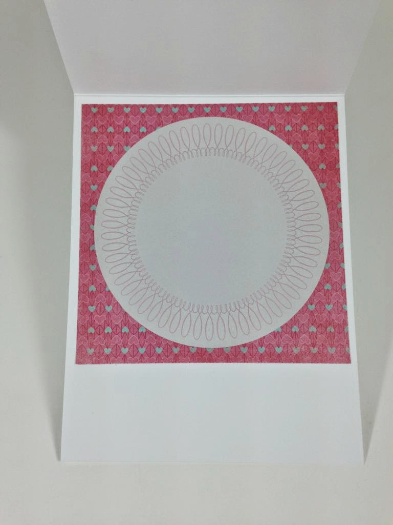 Cricut Artbooking Hello Summer Card inside