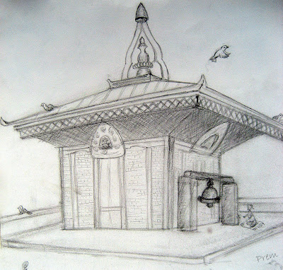 Sketch of Maiti Devi Temple