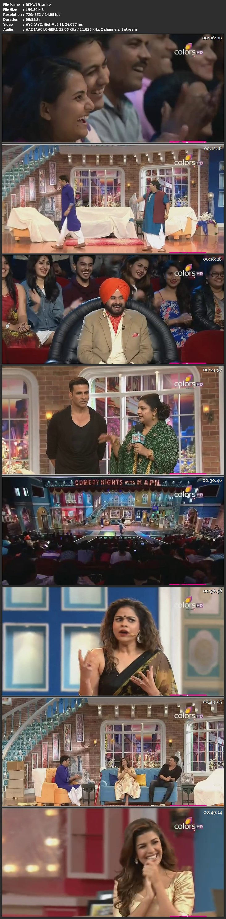 Screen Shot Of Comedy Nights With Kapil 24th January 2016 Episode 191 200MB Watch Online