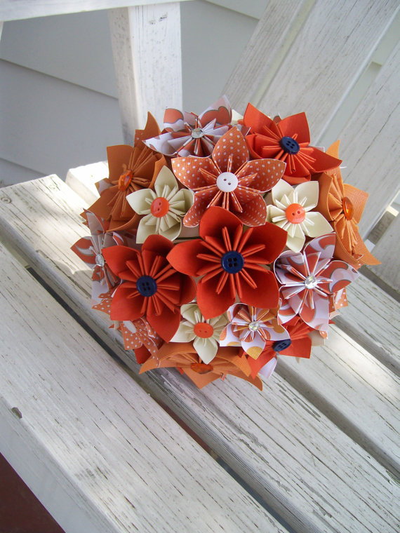 beautiful bridal origami flower bouquets