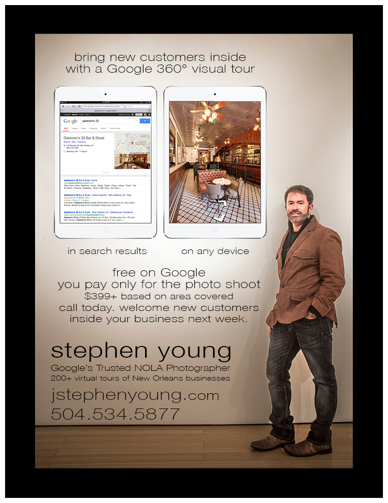 Stephen Young Googles Trusted New Orleans Business Photographer