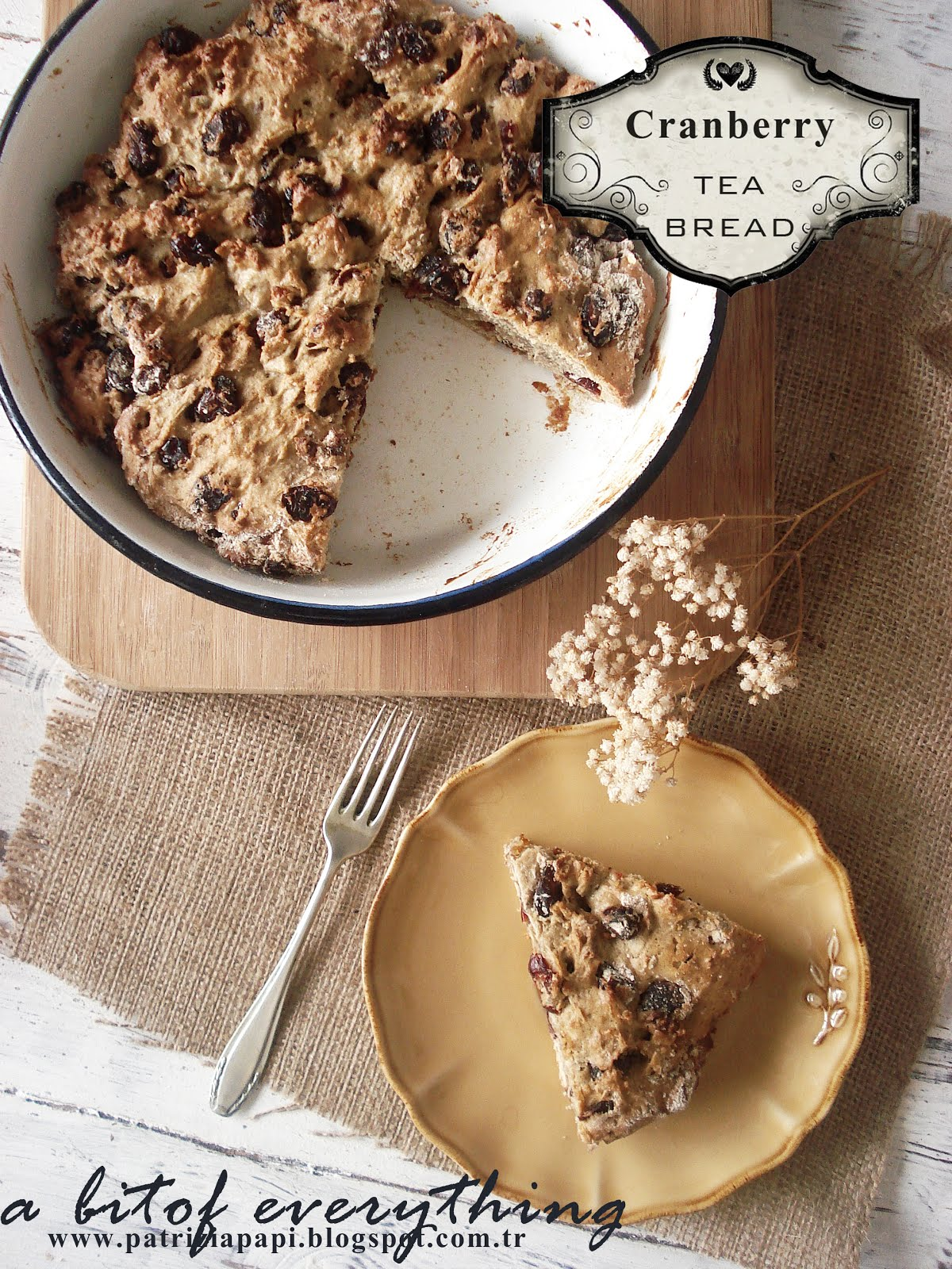 cranberry tea bread