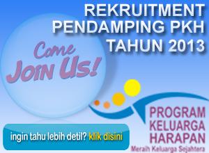 PENGUMUMAN - Hasil Rekruitment Calon Pendamping PKH Kabupaten Sumedang Tahun 2013