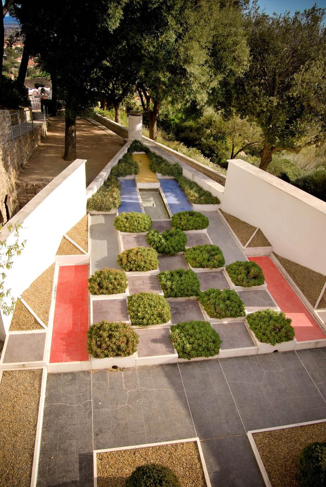 christine rochet jacob postcard from the villa noailles cubist garden hyeres france. Black Bedroom Furniture Sets. Home Design Ideas
