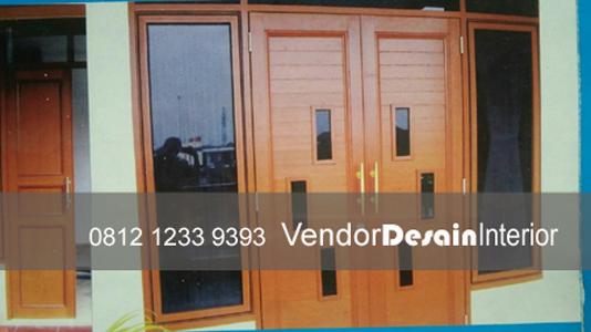 Pintu Plat Aluminium Kayu Interior Desain Jakarta Rumah Kantor