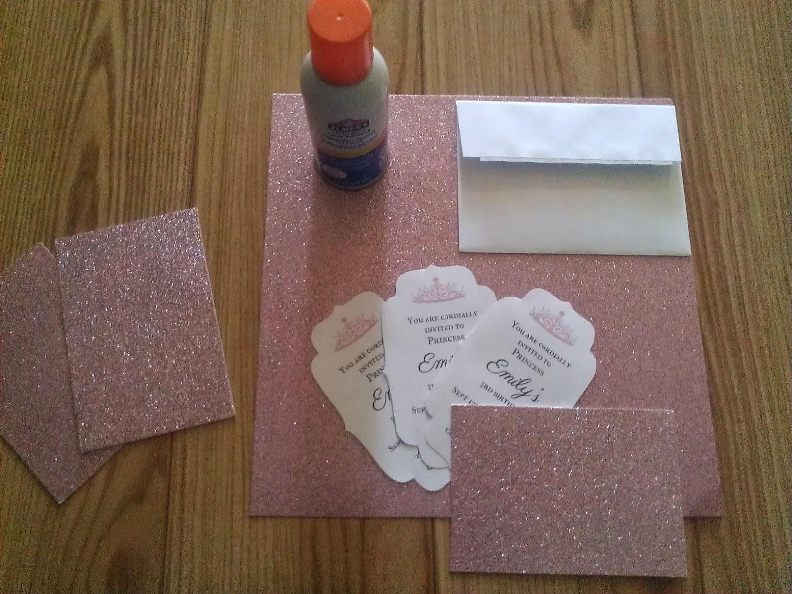 The Copy Cat Home Simple DIY princess invitation – Card Stock for Invitations
