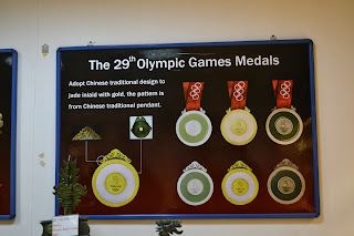 Olympic medals made of jade stone