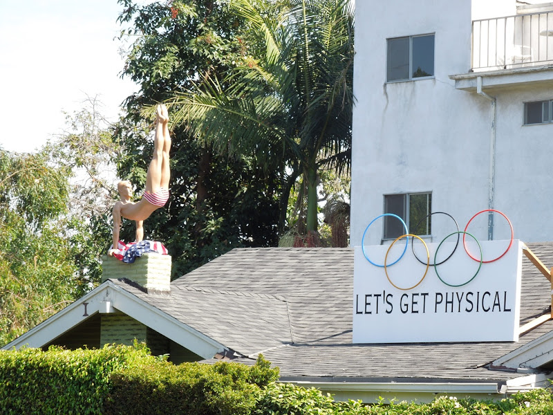 Olympics rooftop installation WEHO