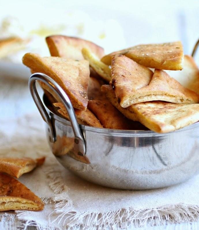 Homemade Za'atar Pita Chips and Quick Labneh Dip