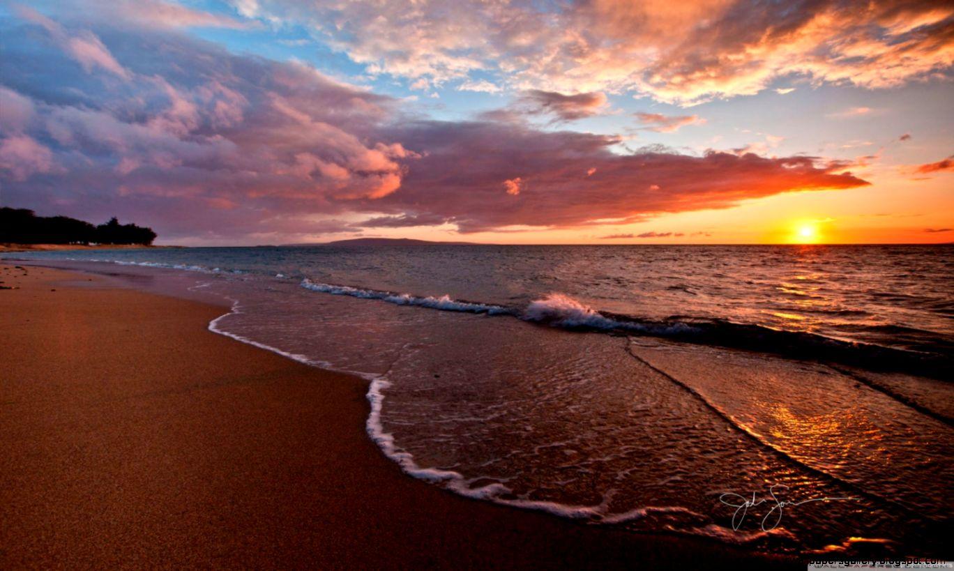 Beach   Sunset HD desktop wallpaper  High Definition  Fullscreen