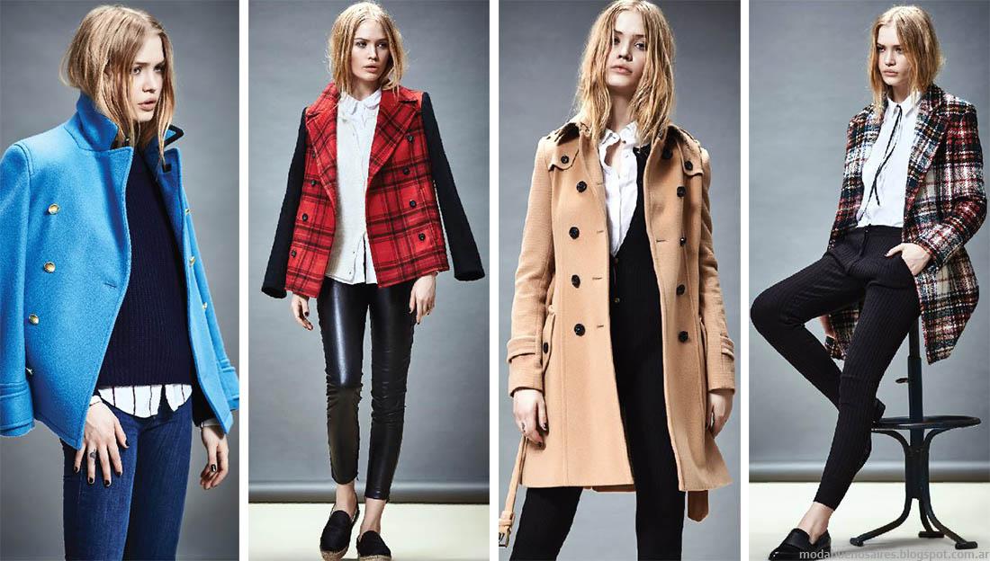 Moda invierno 2015 abrigos y ropa de mujer. Akiabara tapados y sacos moda otoño invierno 2015.