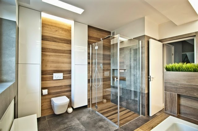 Lay Tiles In Wood Design 27 Modern Bathroom Ideas