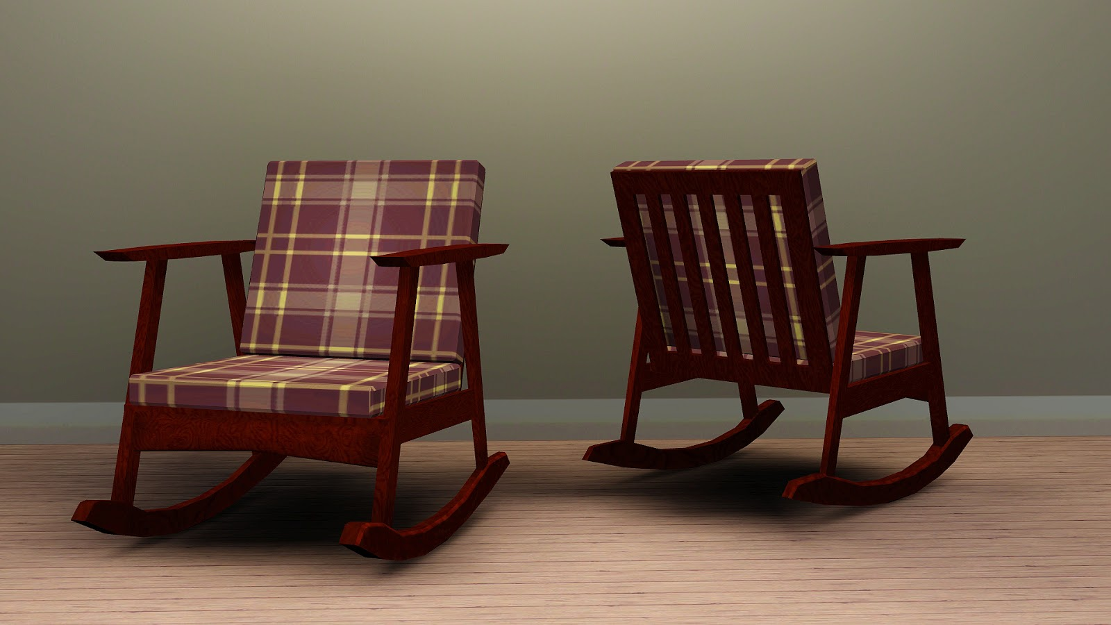 Amazing photo of My Sims 3 Blog: Mid Mod Rocking Chair (Requires SPN) Base Game  with #301813 color and 1600x900 pixels