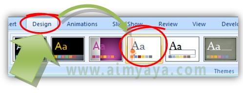 Gambar:  Cara memilih tema untuk photo slideshow di microsoft powerpoint