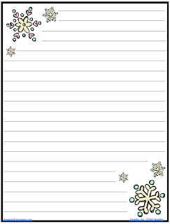 The AmazingClassroom.com Blog: FREE Snowflake Journal Writing Paper