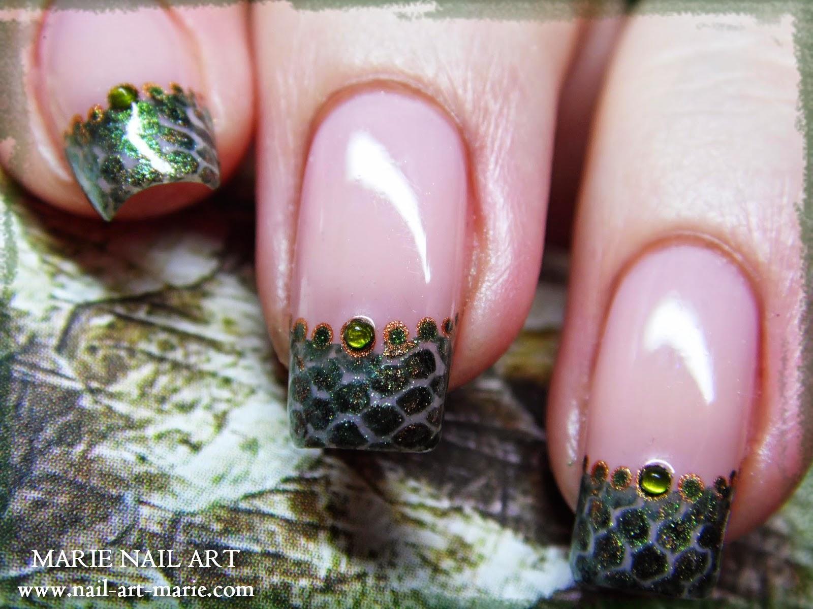 nail art effet peau de serpent4