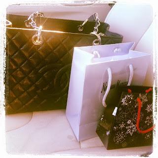 ChanelGST shopping bags saks neimanmarcus la prairie