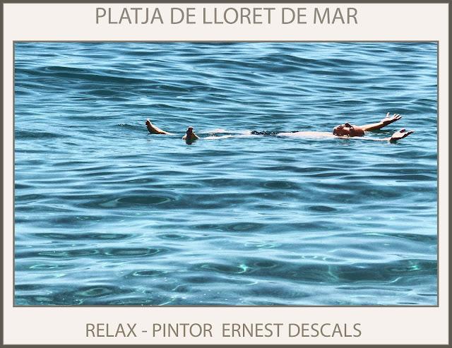 LLORET DE MAR-PLATJA-RELAX-PLAYA-VIAJES-PINTURA-FOTOS-PINTOR-ERNEST DESCALS-