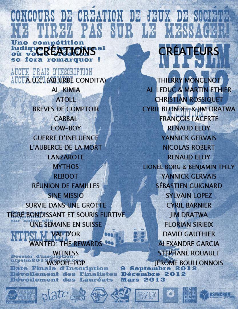 Les primés Ludix 2012 dans le Top 20 NTPSLM 2013