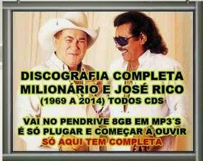DISCOGRAFIA MILIONÁRIO E JOSE RICO NO PENDRIVE