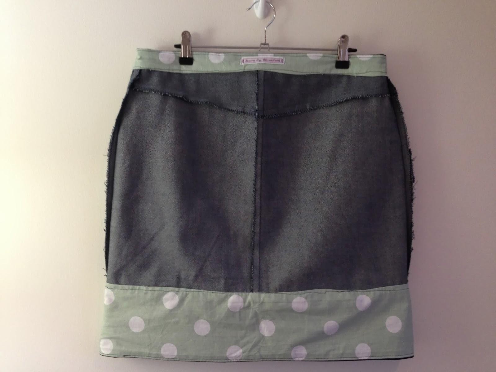 Grainline Studio Moss Skirt Insides