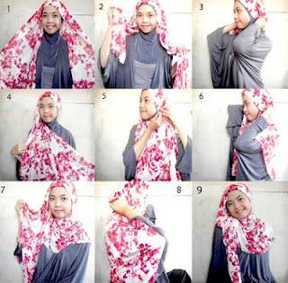 model jilbab pashmina untuk muka bulat
