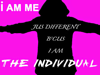 Poster saying I am Me