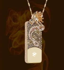 photo of anita mai tans diamond and gold dragon iphone case